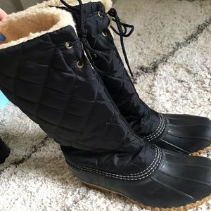 Quilted L.L. Bean Duck Boots